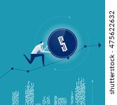 growth. businessman rolls... | Shutterstock .eps vector #475622632