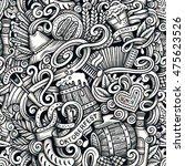 cartoon hand drawn doodles... | Shutterstock . vector #475623526