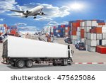 truck container commercial... | Shutterstock . vector #475625086