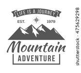 vintage logos mountaineer | Shutterstock .eps vector #475629298