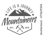 vintage logos mountaineer | Shutterstock .eps vector #475629346