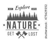 vintage logos explore nature  | Shutterstock .eps vector #475629352