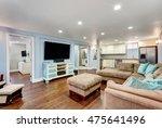 pastel blue walls in basement... | Shutterstock . vector #475641496
