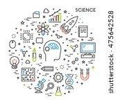 line web concept for science.... | Shutterstock .eps vector #475642528