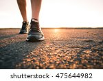 marathon run shoe. outdoor... | Shutterstock . vector #475644982