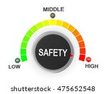 safety button position 3d... | Shutterstock . vector #475652548