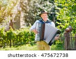 man in traditional bavarian... | Shutterstock . vector #475672738