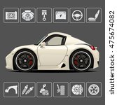 sports car. parts of the... | Shutterstock .eps vector #475674082