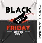 black friday sale .design... | Shutterstock .eps vector #475689562