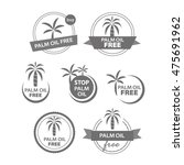palm oil free icons | Shutterstock .eps vector #475691962