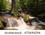 tourist photographs the camera...   Shutterstock . vector #475694296