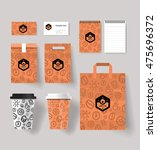 coffee cup and package design... | Shutterstock .eps vector #475696372