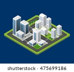 flat 3d isometric urban city... | Shutterstock .eps vector #475699186