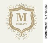 frame style elegant calligraphy ... | Shutterstock .eps vector #475700302