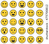set of emoticons. set of emoji. ... | Shutterstock .eps vector #475700812
