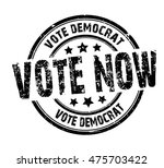 """rubber stamp with text """"vote...   Shutterstock .eps vector #475703422"""