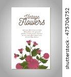 vintage flowers frame... | Shutterstock .eps vector #475706752