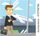 businessman in front of the... | Shutterstock .eps vector #475708786