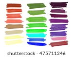 colored markers painted. raster ... | Shutterstock . vector #475711246