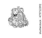 indian wedding couple doodle... | Shutterstock .eps vector #475712392