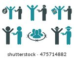 thief arrest glyph icons.... | Shutterstock . vector #475714882