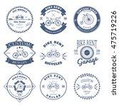 bike rent label and badges... | Shutterstock .eps vector #475719226