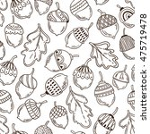 seamless vector pattern with... | Shutterstock .eps vector #475719478