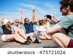 fooling around with friends | Shutterstock . vector #475721026