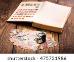 old postage stamps from various ... | Shutterstock . vector #475721986