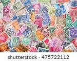 old postage stamps from various ... | Shutterstock . vector #475722112