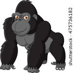 funny gorilla isolated on white ... | Shutterstock .eps vector #475736182