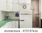 old domestic kitchen of an... | Shutterstock . vector #475737616