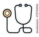 stethoscope vector icon | Shutterstock .eps vector #475745542