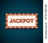 jackpot banner with retro... | Shutterstock .eps vector #475748746