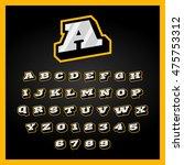 retro sport style alphabet a z... | Shutterstock .eps vector #475753312