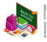 welcome back to school ... | Shutterstock . vector #475755682