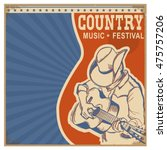 american country music... | Shutterstock .eps vector #475757206