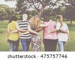women female feminism lady... | Shutterstock . vector #475757746