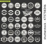 vintage sale labels collection... | Shutterstock .eps vector #475758346