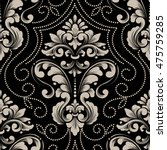 vector damask seamless pattern... | Shutterstock .eps vector #475759285