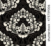 vector damask seamless pattern... | Shutterstock .eps vector #475759306