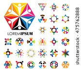 vector logo icons of people... | Shutterstock .eps vector #475762888