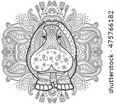ornament  hippo vector.... | Shutterstock .eps vector #475766182