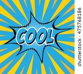 cool  colorful speech bubble... | Shutterstock .eps vector #475768186