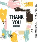 vector thank you card with... | Shutterstock .eps vector #475770016