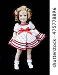Small photo of Close Up and Isolated Vintage Antique Old Doll