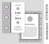 wedding invitation  greeting... | Shutterstock .eps vector #475781578