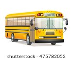 school bus isolated on white.... | Shutterstock . vector #475782052
