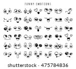 emotions. set of doodle faces.... | Shutterstock .eps vector #475784836
