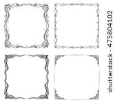 frames. vector set. decorative... | Shutterstock .eps vector #475804102